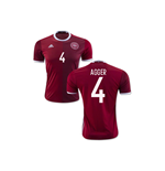 Maillot de Football Danemark Home 2016-2017 (Agger 4)