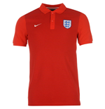 Polo Angleterre Nike Authentic Grand Slam Slim 2016-2017 (Rouge)