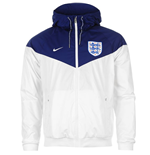 Veste Windrunner Angleterre Nike Authentic 2016-2017 (Blanc/Bleu)