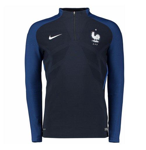 38fe4f3ddcb51 Veste d Entraînement France Nike Authentic Elite 2016-2017 (Bleu Marine)