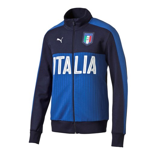 Veste de Survêtement Italie Puma Fanwear 2016 2017 (Bleu Marine)