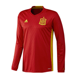 Maillot Manches Longues Espagne Adidas Home 2016-2017