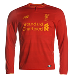 Maillot de Football Manches Longues Liverpool FC Home 2016-2017 (Enfants)