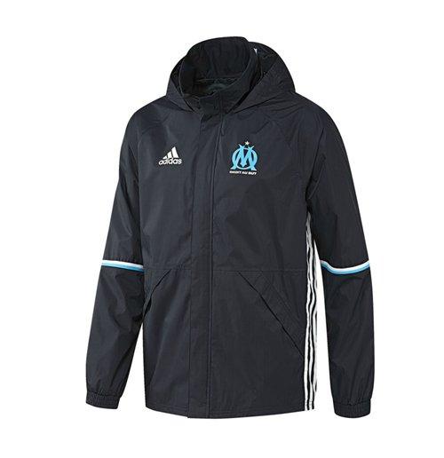 Veste Imperméable Olympique de Marseille Adidas 2016 2017 (Bleu Marine)