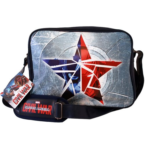 Captain America Civil War sac à bandoulière Broken Star navy