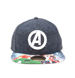 Avengers casquette hip hop Snap Back Logo with Comic Print