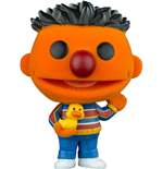 1 rue Sésame Figurine POP! TV Vinyl Ernie (Flocked) 9 cm