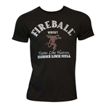 T-shirt Fireball - Text Label