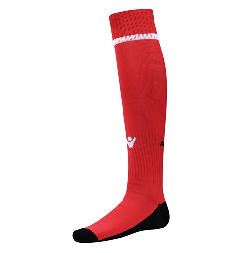 Chaussettes de Football Albanie Macron Home 2016-2017 (Rouge)