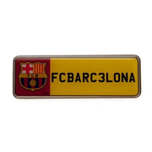 Plaque d'Immatriculation FC Barcelone