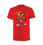 "T-shirt Ferrari Rouge ""Kids Love Ferrari"""