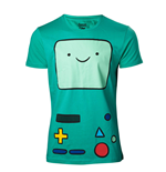 T-shirt Adventure Time Beemo Console de Jeu, Taille M, Turquoise