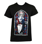 T-shirt Suicide Squad Harley Quinn Vitrail