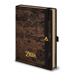 Legend of Zelda carnet de notes Premium A5 Hyrule Map