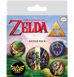The Legend of Zelda pack 5 badges Link
