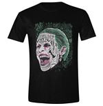 T-shirt Suicide Squad Joker Screaming Noir