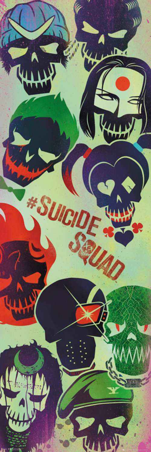 Poster Suicide Squad Faces Door