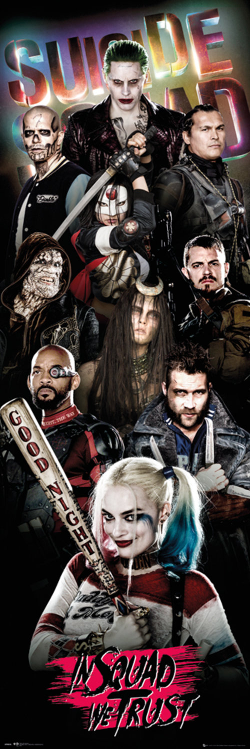 Poster Suicide Squad Collage Door