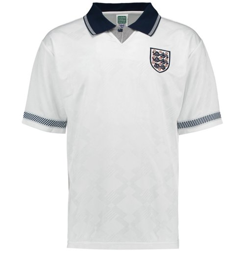 Maillot de Football Score Draw Angleterre 1990 Home