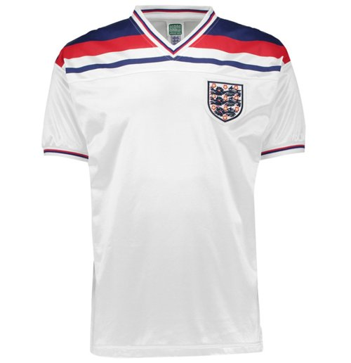 Maillot de Football Score Draw Angleterre 1982 Home