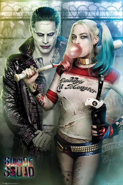 Poster Suicide Squad Joker and Harley Quinn