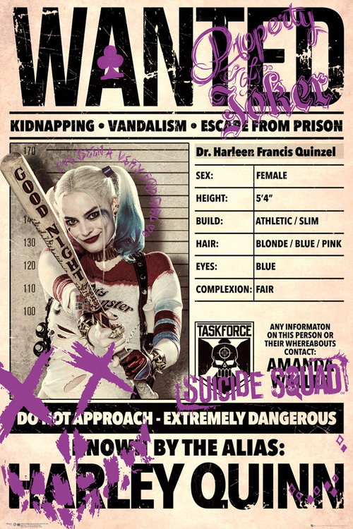 Poster Suicide Squad Harley Quinn Wanted