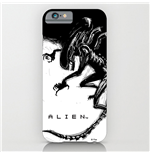 Alien coque iPhone 6 Xenomorph Black & White Comic