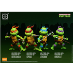 Les Tortues ninja pack 4 figurines Mini Hybrid Metal 7 cm
