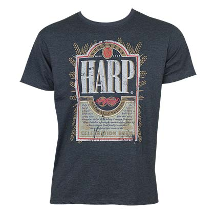T-shirt Harp Lager - Distressed Label