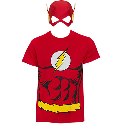 T-shirt The Flash - Costume et Masque