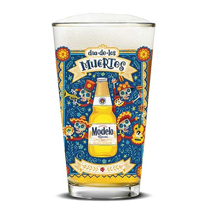 Verre à Bierre Modelo Especial - Day Of The Dead