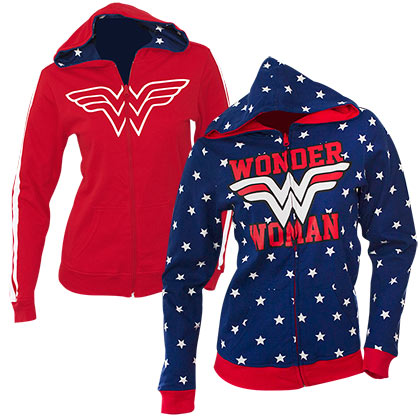 Veste à Capuche Réversible Wonder Woman