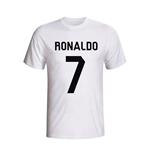 T-shirt Real Madrid Cristiano Ronaldo Hero (Blanc) - Enfants