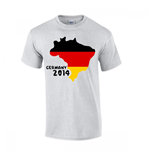 T-shirt Allemagne Football (Gris)