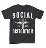 T-shirt Social Distortion - Winged Wheel
