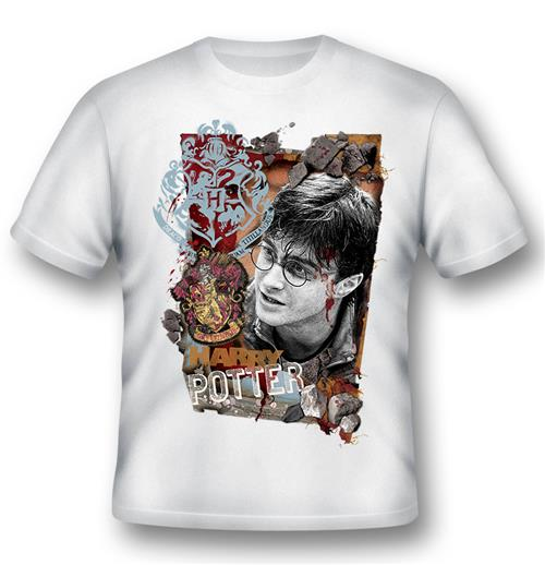 T-shirt Harry Potter Titillandus Blanc