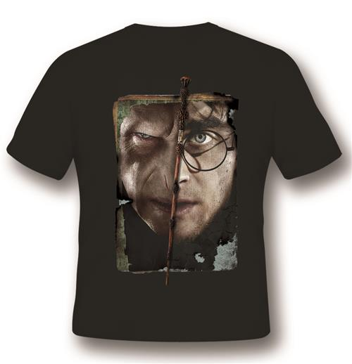 T-shirt Harry Potter Vs. Voldemort Noir