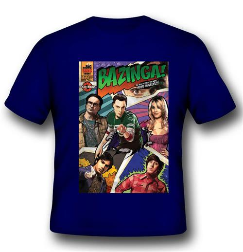 T-shirt Big Bang Theory Bazinga Comic Book Cover