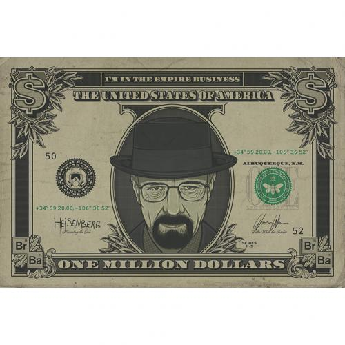 Poster Breaking Bad Heisenberg Dollar