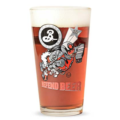 Verre à Bière Brooklyn Brewery - Defend Beer