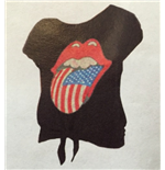 T-shirt Rolling Stones - Usa Bling Tongue