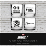 Iron Man pack 4 verres Stark Industries Quotes Set B