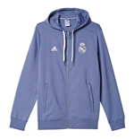 Sweat à Capuche Zippé Real Madrid Adidas 3S 2016-2017 (Violet)