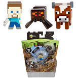 Minecraft pack 3 trading figurines 3 cm