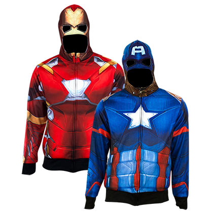 Sweat à Capuche Réversible Captain America Iron Man - Identity Crisis