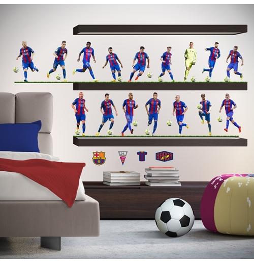 Autocollants Muraux Fc Barcelone 16 Joueurs Pour Seulement