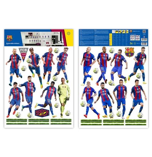Autocollants muraux fc barcelone 16 joueurs pour seulement for Autocollants muraux