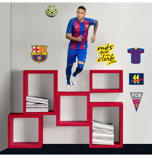 Autocollants muraux fc barcelone neymar pour seulement for Autocollant muraux