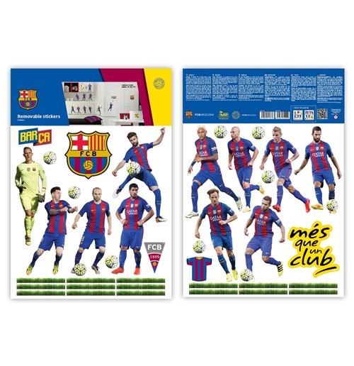 Autocollants muraux fc barcelone 11 joueurs pour seulement for Autocollants muraux