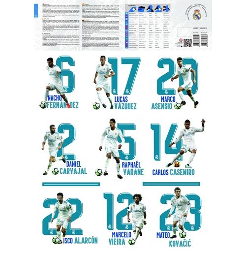 Autocollants Muraux Real Madrid Produits Officiels 2017